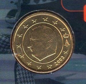 Belgique - 2003 - 50 centimes d'euro FDC provenant coffret BU 100000 exemplaires
