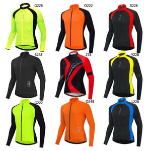 Men-039-s-Cycling-Jersey-Long-Sleeve-MTB-Road-Mountain-Bike-Racing-Tops-Quick-Dry