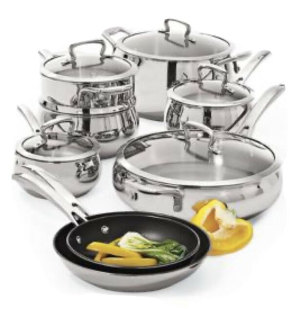 13-Piece Biltmore Belly Shaped Stainless Cookware Set