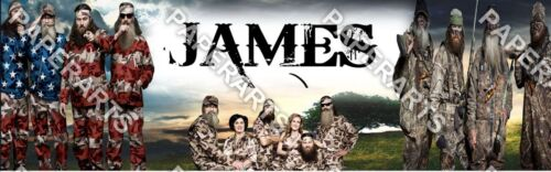 Duck Dynasty Customized Name Painting Poster Banner Great Gift