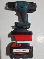 Milwaukee 18v battery adapter to Makita LXT Powertools