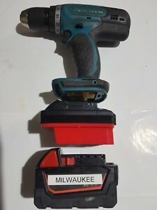 Details about Milwaukee 18v battery adapter to Makita LXT Powertools