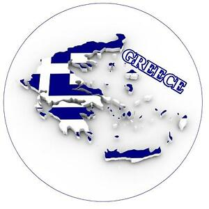 GREECE MAP - FLAG - ROUND SOUVENIR NOVELTY FRIDGE MAGNET - SIGHTS - FLAG - GIFTS S8n2tN3Q-09161306-583127945
