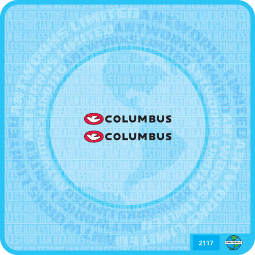 Set 117 Columbus Fahrrad Chainstay Decal Transfer Sticker