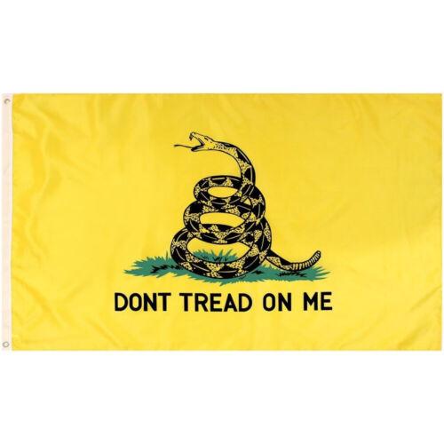 Yellow 3X5 Ft Gadsden DONT TREAD ON ME Culpepper Rattlesnake Tea Party Flag