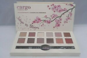 Cargo-Cosmetics-Tokyo-in-Bloom-Eyeshadow-Palette-12-Shadows-Dual-Ended-Brush-New