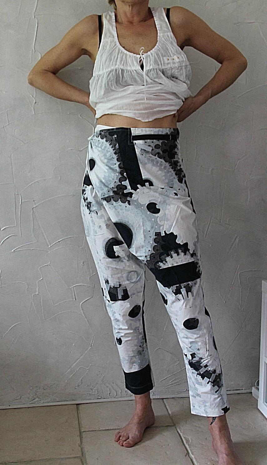 Pantalon tablier MARITHÉ FRANCOIS GIRBAUD size 42 fr 46i 40D NEUF ÉTIQUETTE