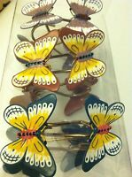 Lenox Butterfly Meadow Set of 12 Shower Curtain Hooks New Home Furnishings