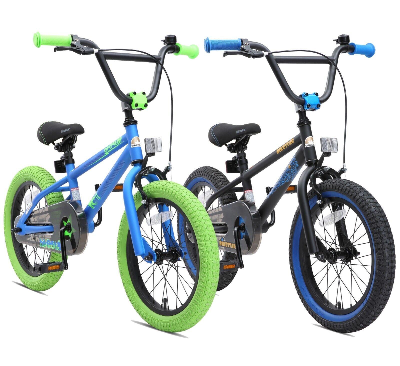 BIKESTAR Kinderfahrrad Kinderrad Fahrrad für Kinder ab 4 Jahre   16 Zoll BMX