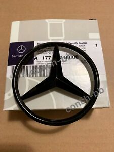 Mercedes-NEW-A-Class-W177-Rear-Boot-Star-Badge-Emblem-Gloss-Black-A1778170000