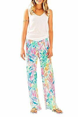 """Lilly Pulitzer NEW Womens XS Navy Blue 33/"""" Bal Harbour Palazzo Pants $128"""