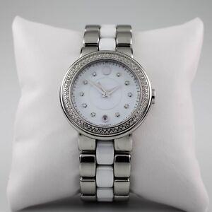 Movado Cerena Quartz Stainless Steel & Ceramic Watch w/ Date 32.3.14.1205
