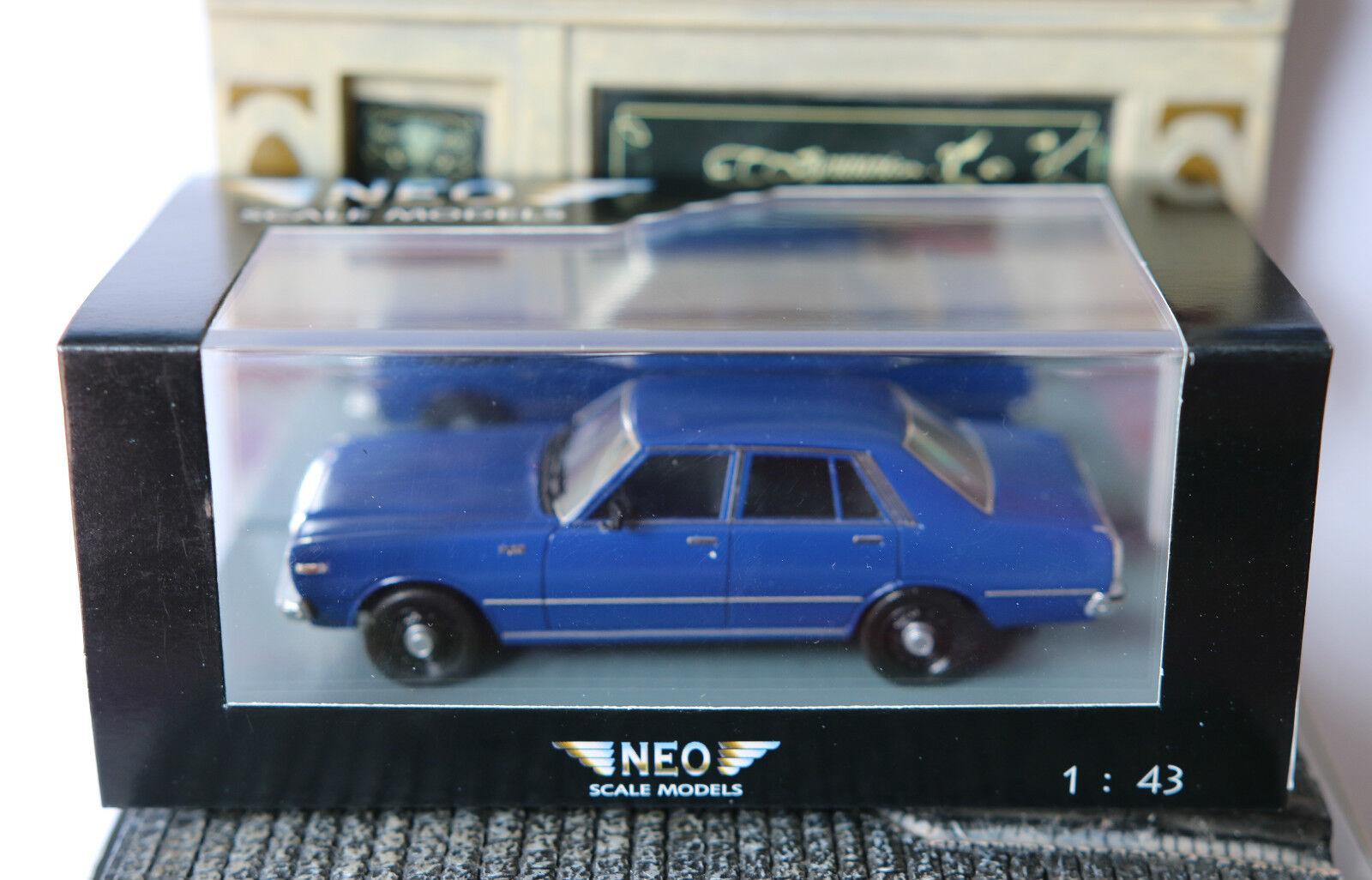 Datsun 200l laurel c230 dark blueee neo 44499 1 43 lhd left hand drive blueee bluee
