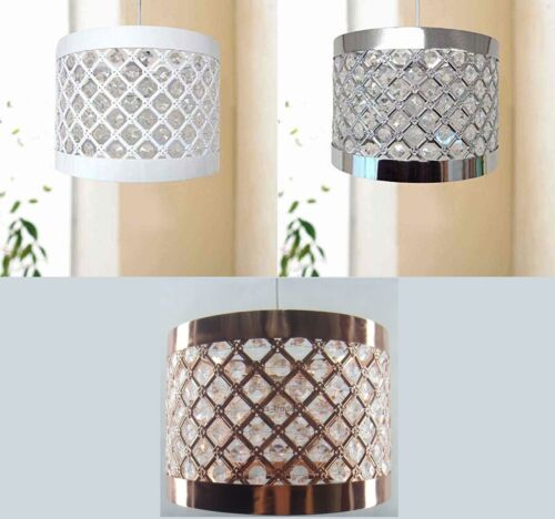 Modern Easy Fit Moda Sparkly Ceiling Pendant Light Shade Fitting Decoration New