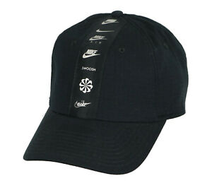 NIKE-Heritage-86-Logo-Strapback-Cap-Adult-One-Size-Black-Silver-H86-Run-Swoosh