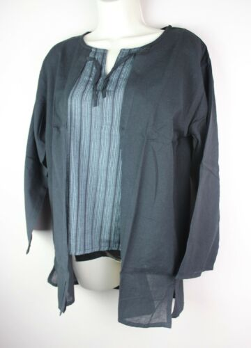 HANDMADE Vintage Cotton Retro Shirt Kurta Top Festival Boho Kimono Hippie S23