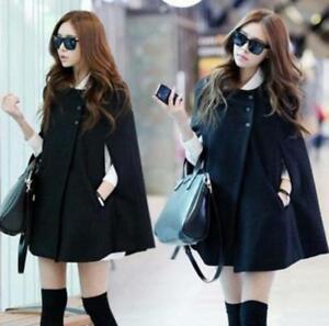Women-Loose-Batwing-Wool-Poncho-Winter-Warm-Coat-Jacket-Cloak-Cape-Parka-Outwear