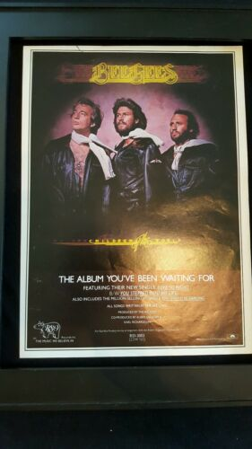 Bee Gees Children Of The World Rare Original Promo Poster Ad Framed!