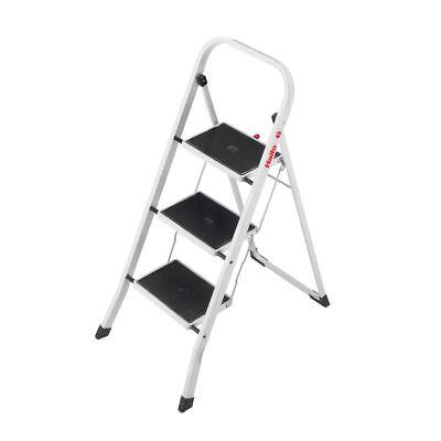 Hailo Klapptritt mit 3 Stufen aus Stahl Tritt Hocker kleine Leiter