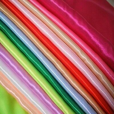 "60"" Wide Satin fabric, BY THE YARD bridal wedding dress crafts costume sew"