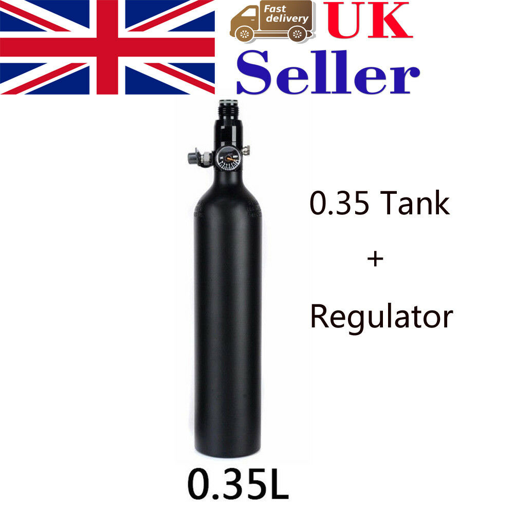 Tank 4500psi 0.35L High Compressed Air Cyclinder Bottle Regulator For Paintball