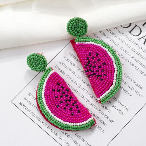 Fashion Summer Watermelon Boucle D/'oreille Résine Perles Fruit Femmes Pendentif Boucles d/'oreilles pendantes