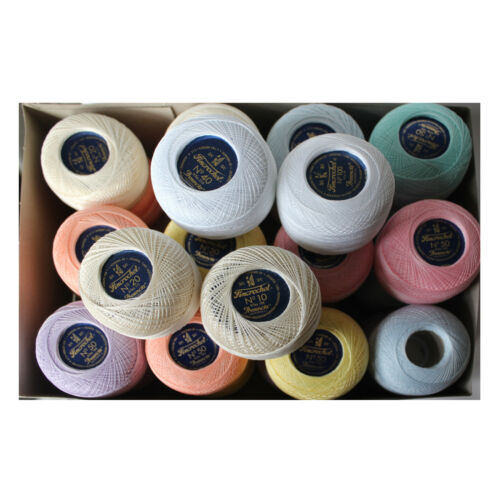 50g ball Presencia Fincrochet 3ply crochet cotton choose from 8 colours 8 sizes