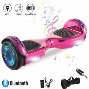 "Hoverboard Rosa 6,5"" Elektro Scooter Bluetooth Selbst ElektroRoller Für Kinder"
