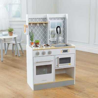 Kidkraft Let\'s Cook Wooden Play Kitchen | Kids Wooden Toy Kitchen | eBay