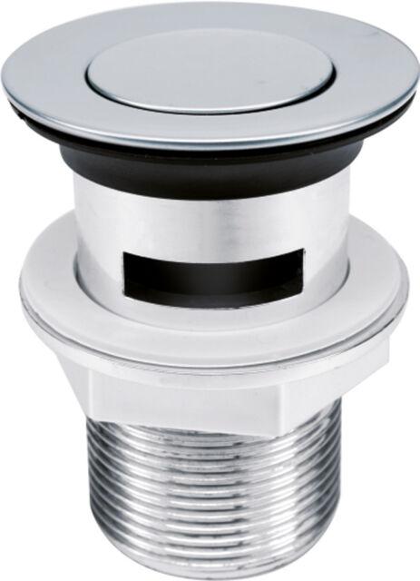 Ablaufventil mit Click Ablaufgarnitur Abfluss Ablauf Ventil Stöpsel Waschbecken