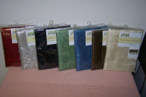 """Home Collection Window Valance Assortment 60/"""" x19/"""" New in Pack Color Green"""