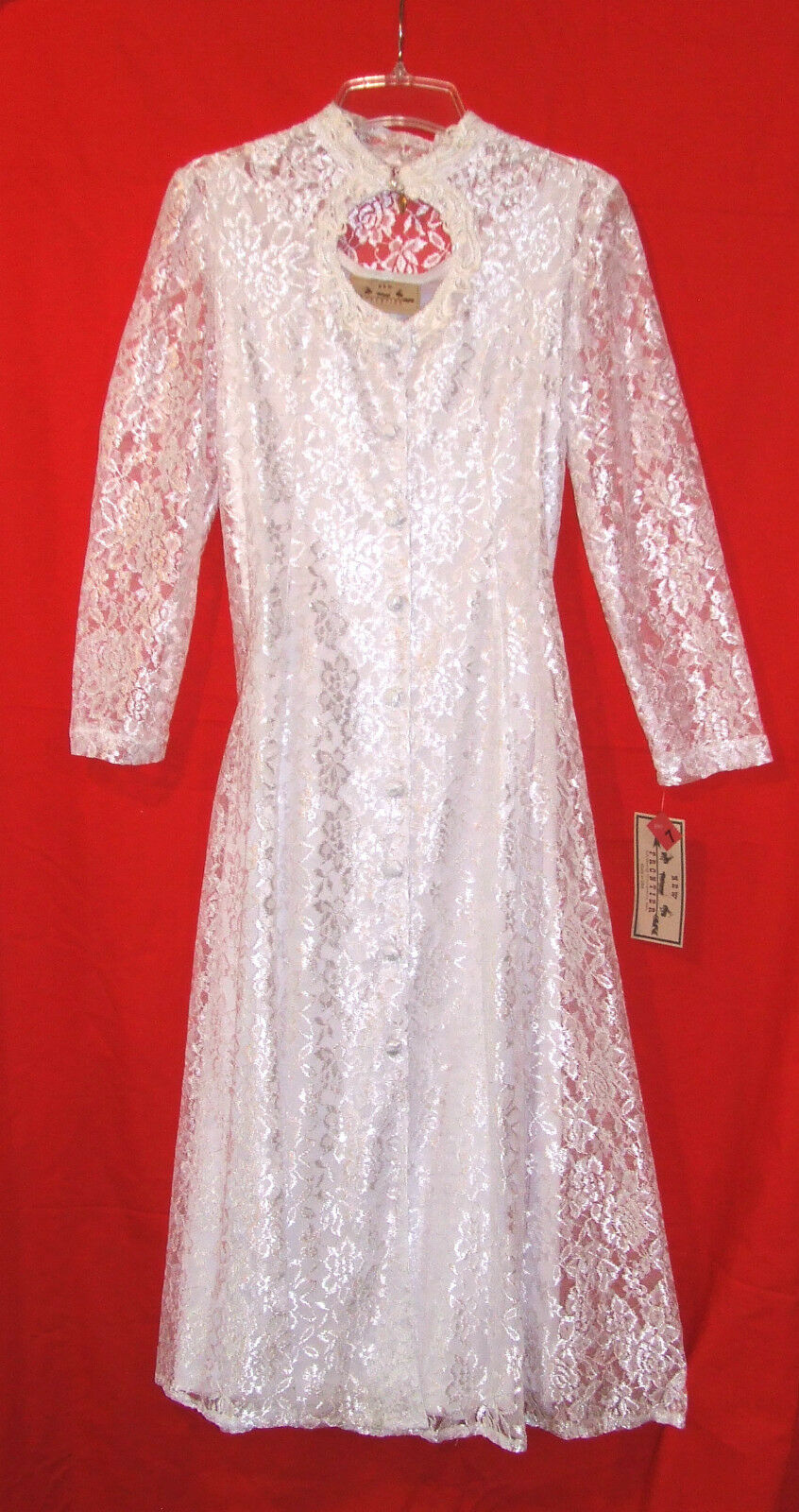 Ladies Western Wedding Dress White Lace New Gorgeous Party 7 11 13 Authentic 162