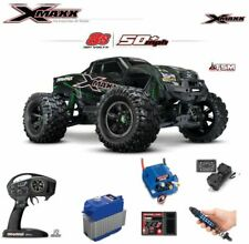 Traxxas 1//5 8s X-Maxx Front or Rear Steel Heavy Duty Driveshafts Green Stub Axle
