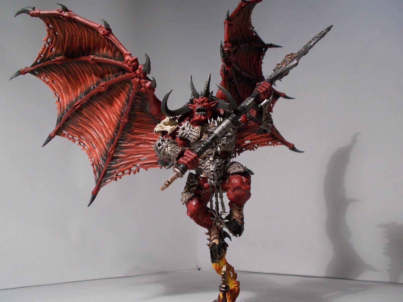 Warhammer 40k Chaos Daemons-Khorne bloodthirster Comisión Pintura