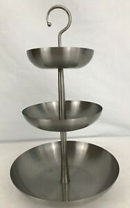 Image Is Loading Ikea Lillholmen Stainless Steel 3 Tier Ball Footed