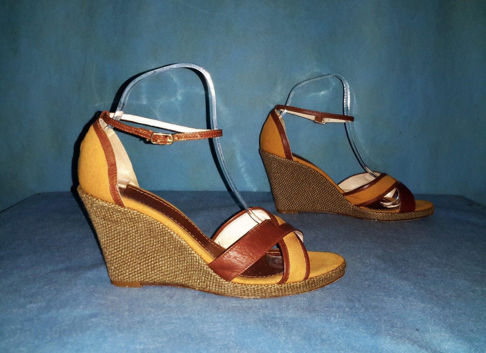 Sandali con zeppa MAX MARA e pelle e MARA tela p 38 ottima qualità 1d17b1