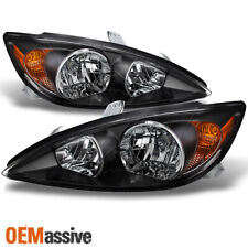 Black Fits 2002 2003 2004 Toyota Camry Le Se Xle Headlights Replacement Lhrh