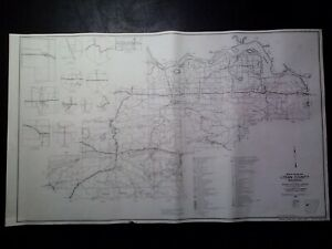 Details about Vintage 1964 18x30 Arkansas General Highway Map Logan County