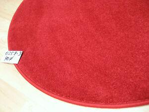 Runder roter teppich kräuselvelours rund rot dick