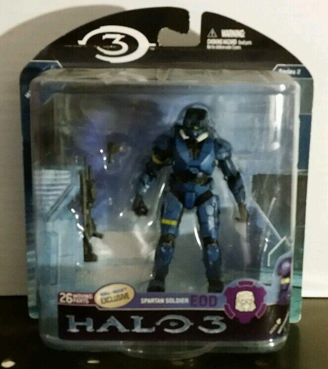 Halo 3 reihe 2 - spartanischen soldaten eod (blau) aldi mcfarlane 5  2008 nib