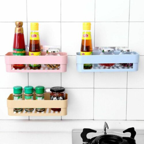 Suction Cup Wall Mounted Bath Rack Shower Holder Bathroom Box Storage Shelf