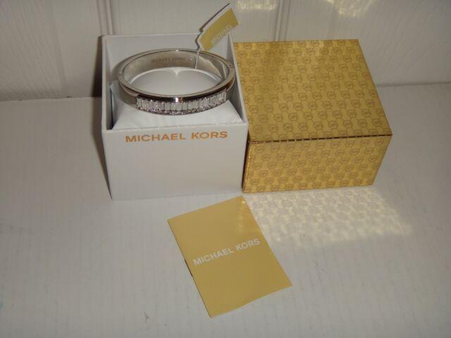 c94b698642de Michael Kors Womens Black Friday Silver Bangle Bracelet Crystals MKJ6231040  +BOX