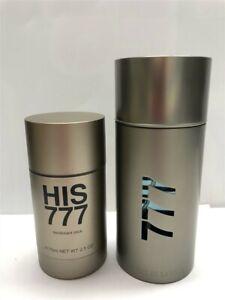 His 777 by Parfums de Laroma 2pc Set 3.3 oz/100 ml Eau de Toilette Spray Men