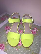 Ufficio Neon Lime Tacco A Blocco Tg UK 6