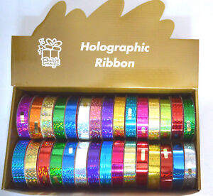 9-Meter-x-18mm-Holographic-Happy-Merry-Christmas-Ribbon-Gift-Wrapping-Blue