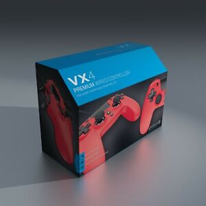 PS4-Controller-Gioteck-VX4-Wired-Playstation-PC-Red-BRAND-NEW-Free-UK-P-amp-P