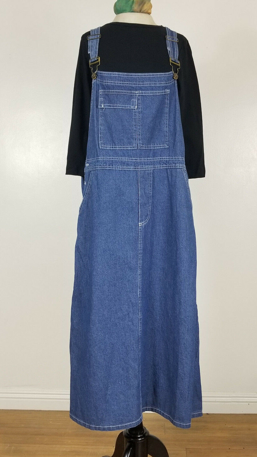 Modest denim jumper A Line Denim Carpentar Jumper For 4 modesty