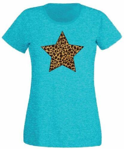 Women Ladies Leopard Star Slogan Print T shirt /& Vest Trendy Summer Tank Top