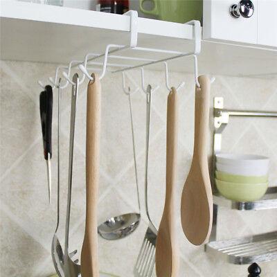 Hooks Kitchen Utensil Cupboard Pan Rail Rack Wall Hanging Storage Holder