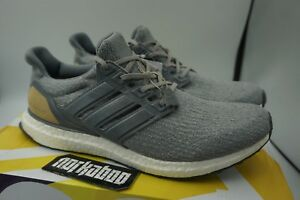 Details about Adidas Ultra Boost 3.0 Limited Leather Cage Grey Suede Linen Khaki BB1092 new